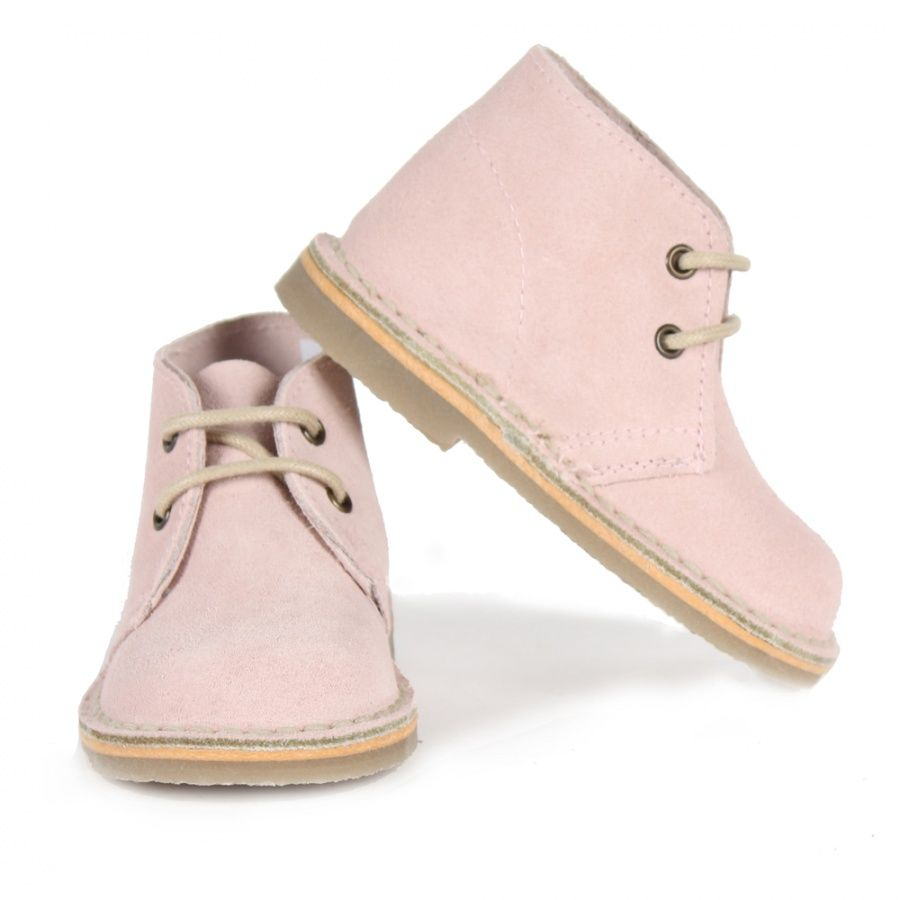Kids by MOTT Mini Suede Desert Boot, Antique Pink :: Bohemia