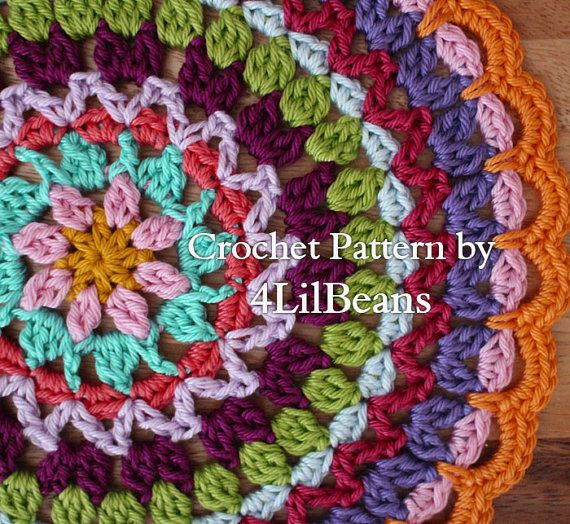 Crochet Mandala Crochet Flower Mandala Pattern/ by 4LilBeans, $3.50