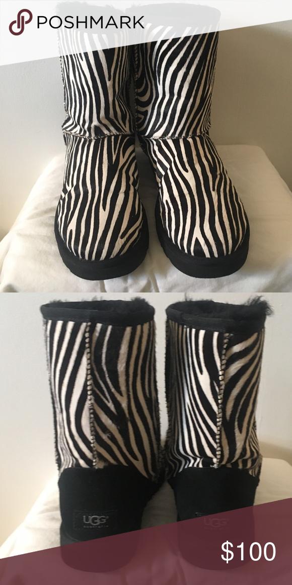 f60f729e708 UGG Zebra print boots Short UGG zebra print boots Never worn UGG ...