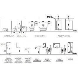 Bathroom Fixtures - Standard Mounting Heights dwg
