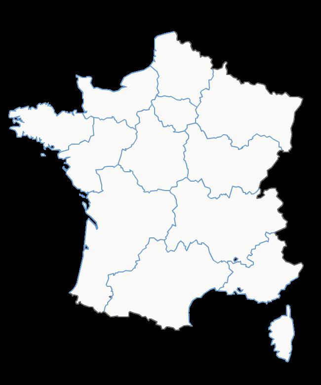 carte région france vierge Épinglé par Mihaela sur Francais | Carte vierge, Carte de france à