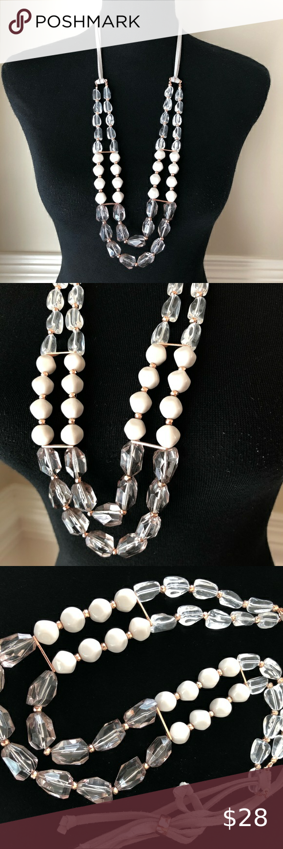 Juicy Couture Smoky Gray Fashion Necklace Double