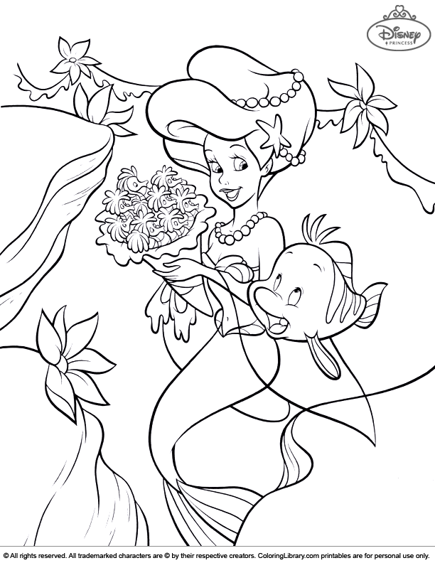 Ariel Little Mermaid Disney Princess Coloring Coloring Pages