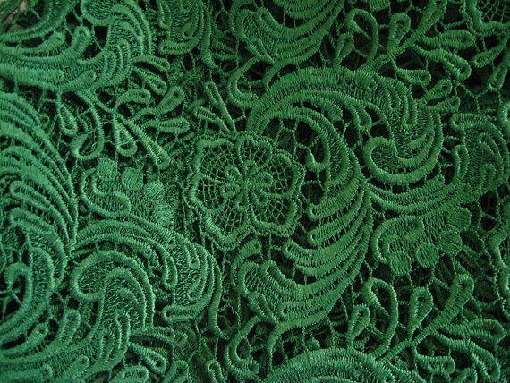 Smaragd grüner Spitze Stoff Venise Spitze Stoff von - innovative oberflachengestaltung pixelahnliche elemente