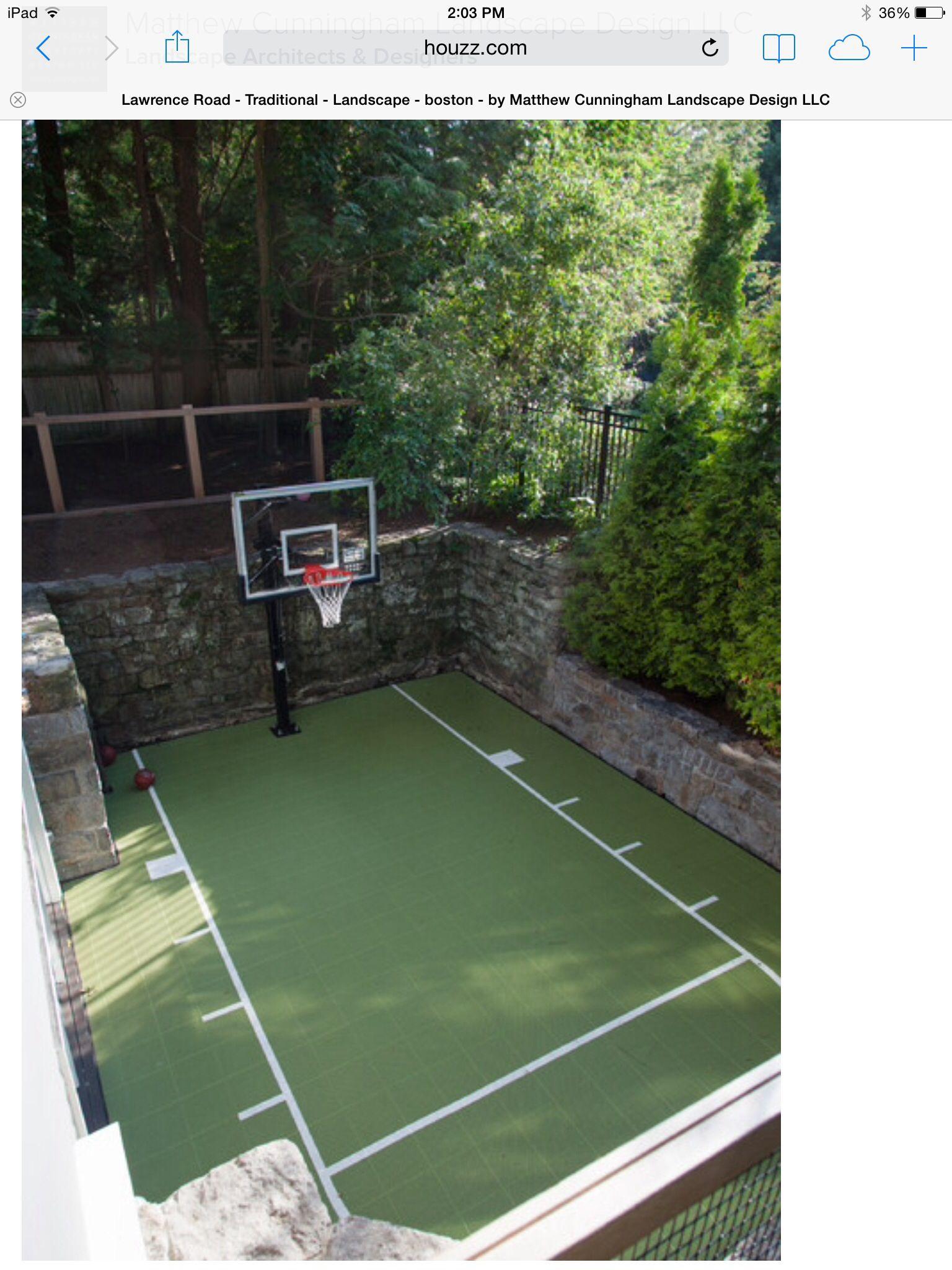 small sport court backyard pinterest backyard and house
