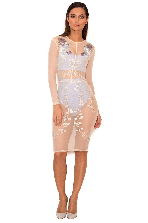 Clothing bandage dresses maran embroidered applique mesh clothing bandage dresses maran embroidered applique mesh dress with bandage top and ombrellifo Images