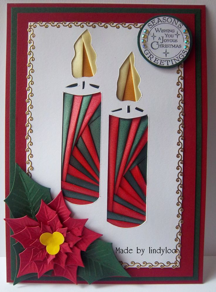 image result for pinterest folding christmas card - Folded Christmas Cards