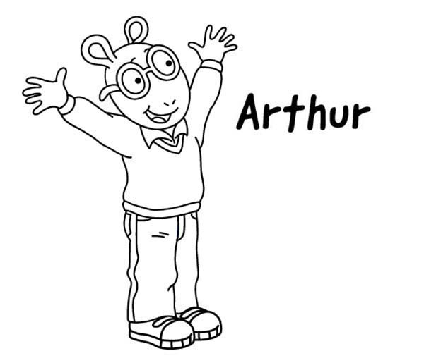 Arthur Is So Happy Coloring Page : Coloring Sun | Coloring ...