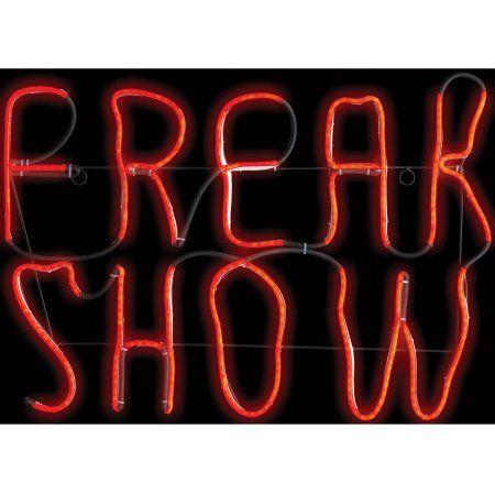 Freak Show Glow Light Halloween Decoration, Adult Unisex, Multicolor - walmart halloween decorations
