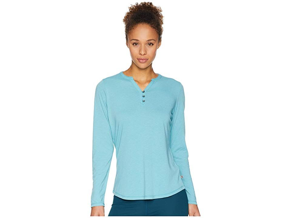 Royal Robbins Merinoluxtm Henley Long Sleeve Porcelain Womens Long Sleeve Pullover The Royal Robbins Merinolux Henley Long Sleeve is engineered so you can jetset in comfo...