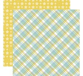 Echo Park Bundle of Joy 2 Baby Boy Plaid Baby Scrapbook Paper