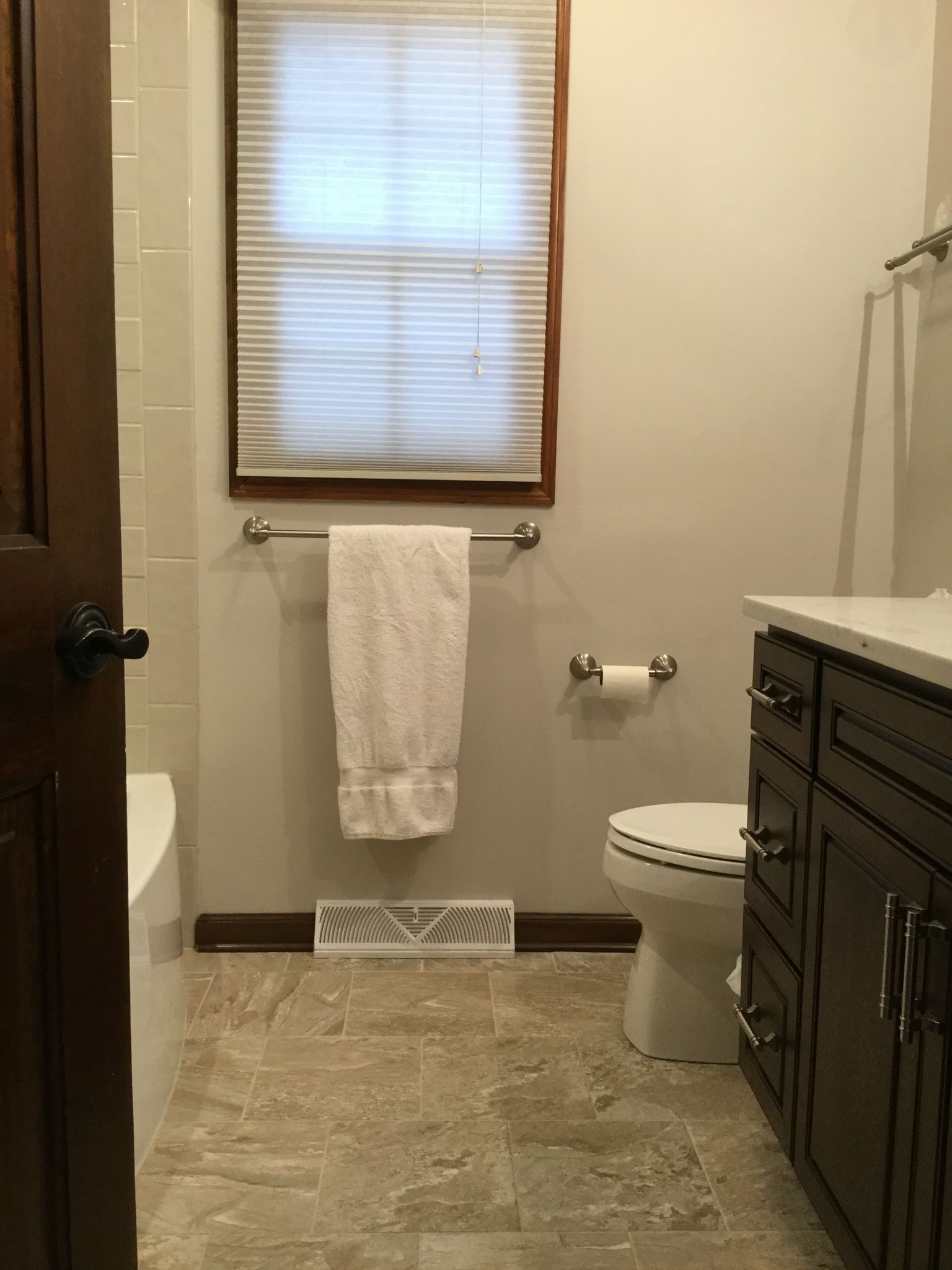 Floor tile  porcelain La Platera States   Snow  Bathroom Vanity  Bertch  Hudson. Floor tile  porcelain La Platera States   Snow  Bathroom Vanity