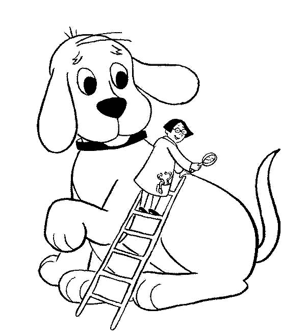47++ Clifford the big red dog coloring page HD
