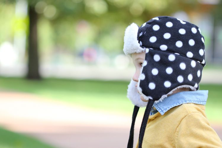Toddler Ear Flap Hat FREE PATTERN - Delia Creates | Kids sewing ...