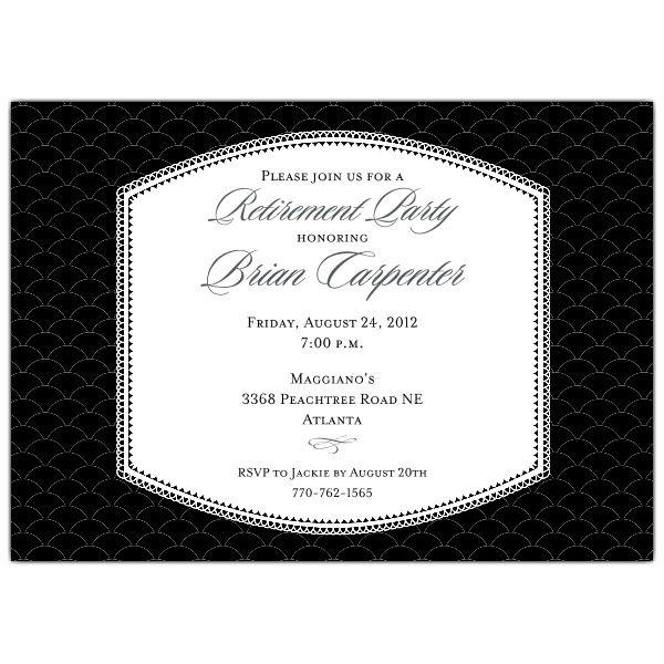 Badge Black Retirement Dinner Invitations Dinner