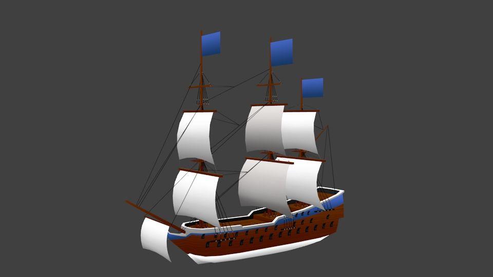 3d Model Kapal Kartun Kapal Kartun