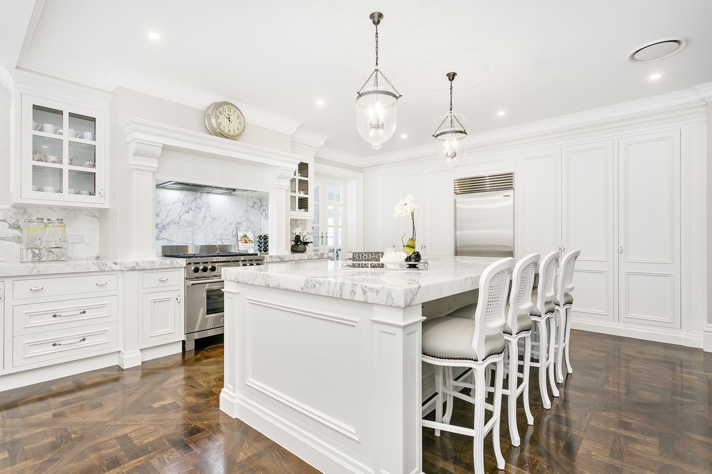 elegant traditional kitchens | Stone Splashback | Pinterest ...