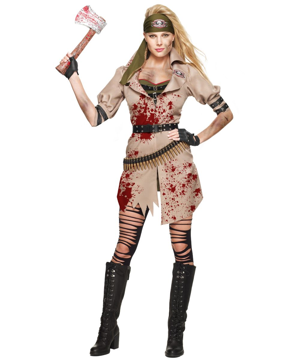 Zombie Huntress Adult Womens Costume exclusively at Spirit ...