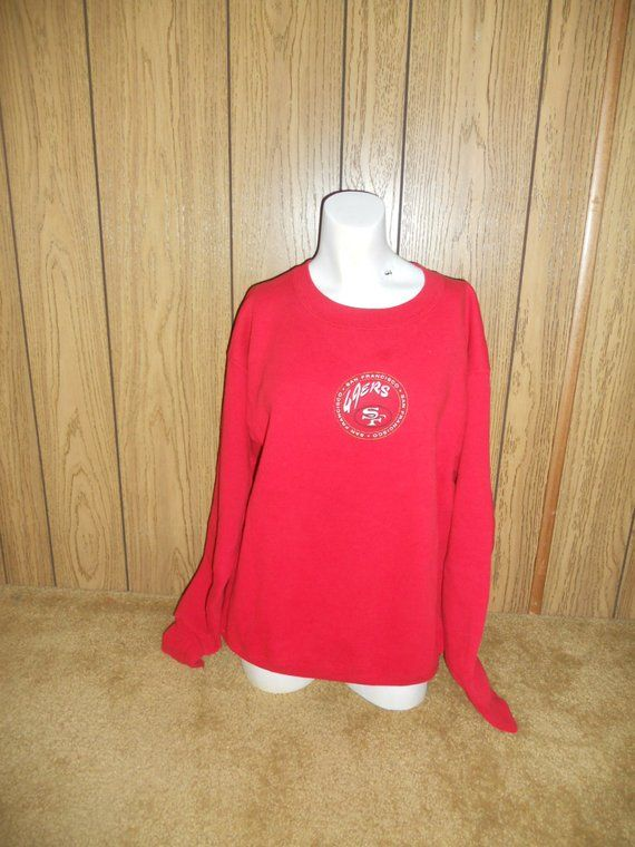 53feb5e2b HUGE SALE Vintage SF San Francisco Forty Niners 49ers sweatshirt football  Nfl red clothing clot