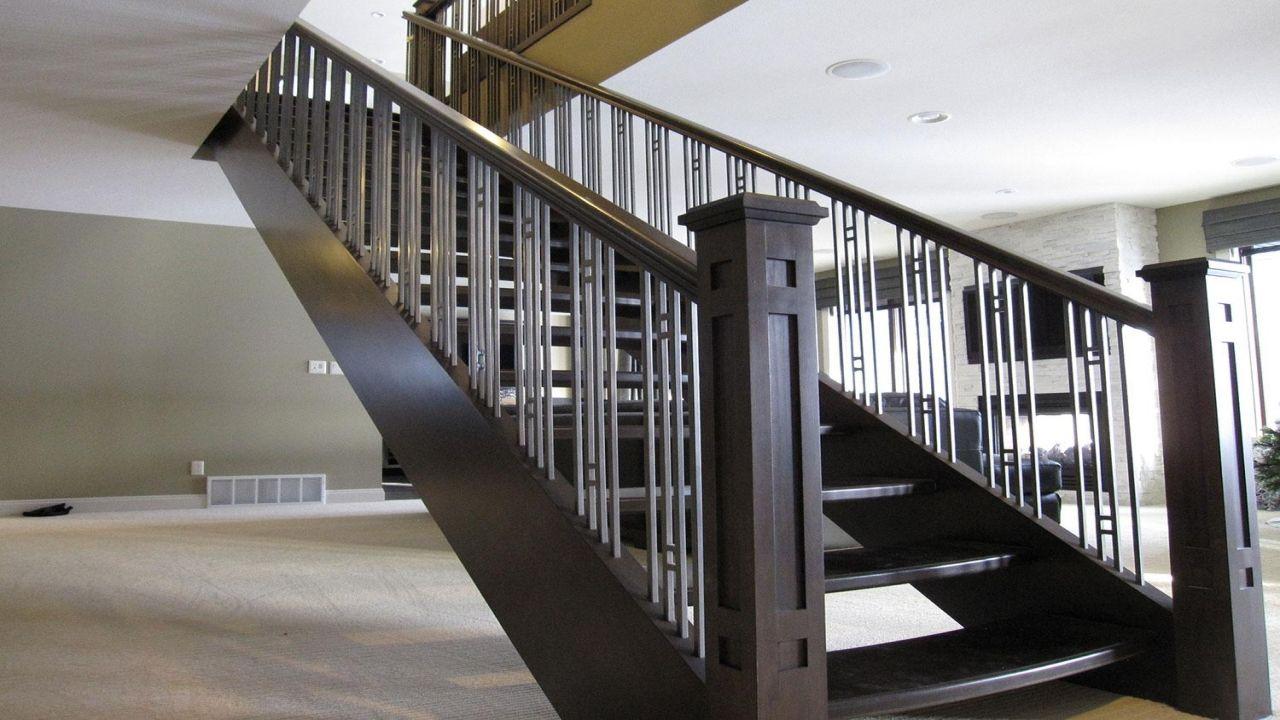 Best Stair Railing Black Metal Stair Railing Contemporary Stair 400 x 300