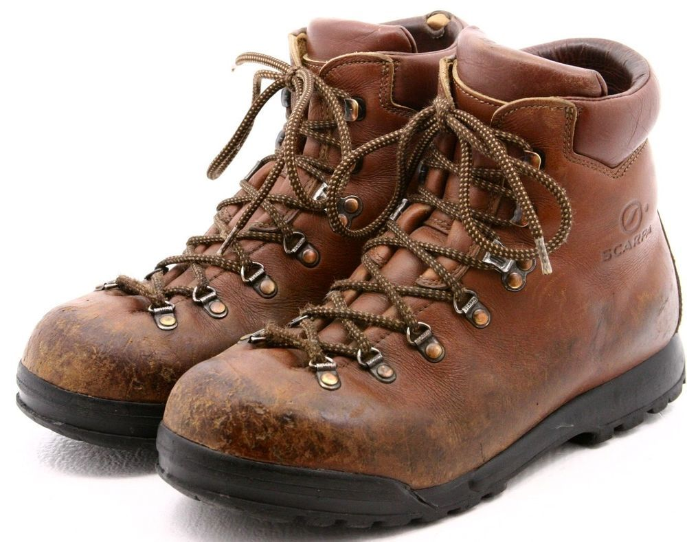 Scarpa Mens Hiking Mountaineering Boots Size 8 Brown Leather ...