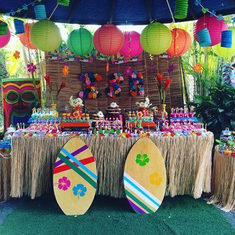 Decoracion fiestas hawaianas pesquisa google hawaiana - Ideas para fiestas de cumpleanos infantiles en casa ...