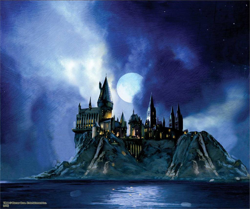 Hogwarts Castle Night Scene From The Black Lake Harry Potter Schloss Hogwarts Bilder