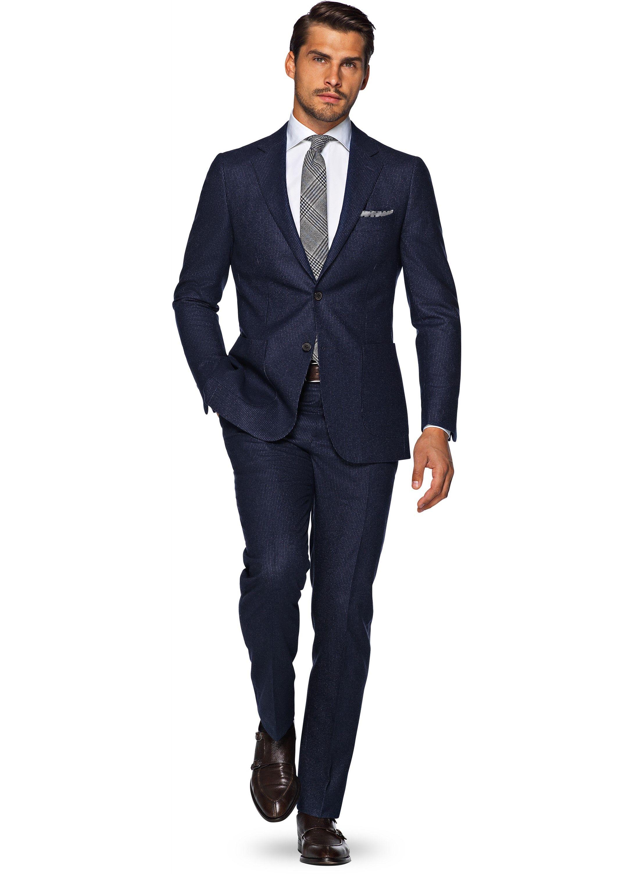 Anzug Blau Streifen Havana P4751 | Suitsupply Online Store