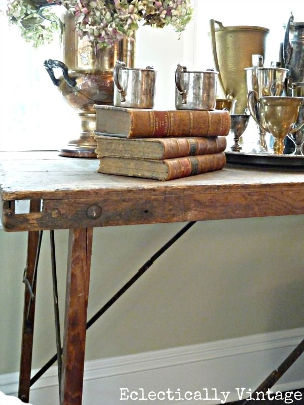 Fab Friday Finds Ode To An Antique Wallpaper Pasting Table Antique Wallpaper Decor Table