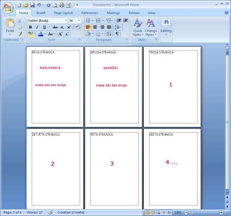 Numeriranje Word