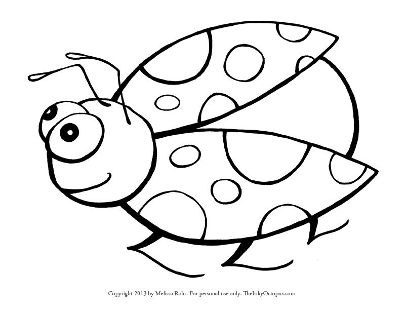 Free Printable Ladybug Coloring Page  The Inky Octopus