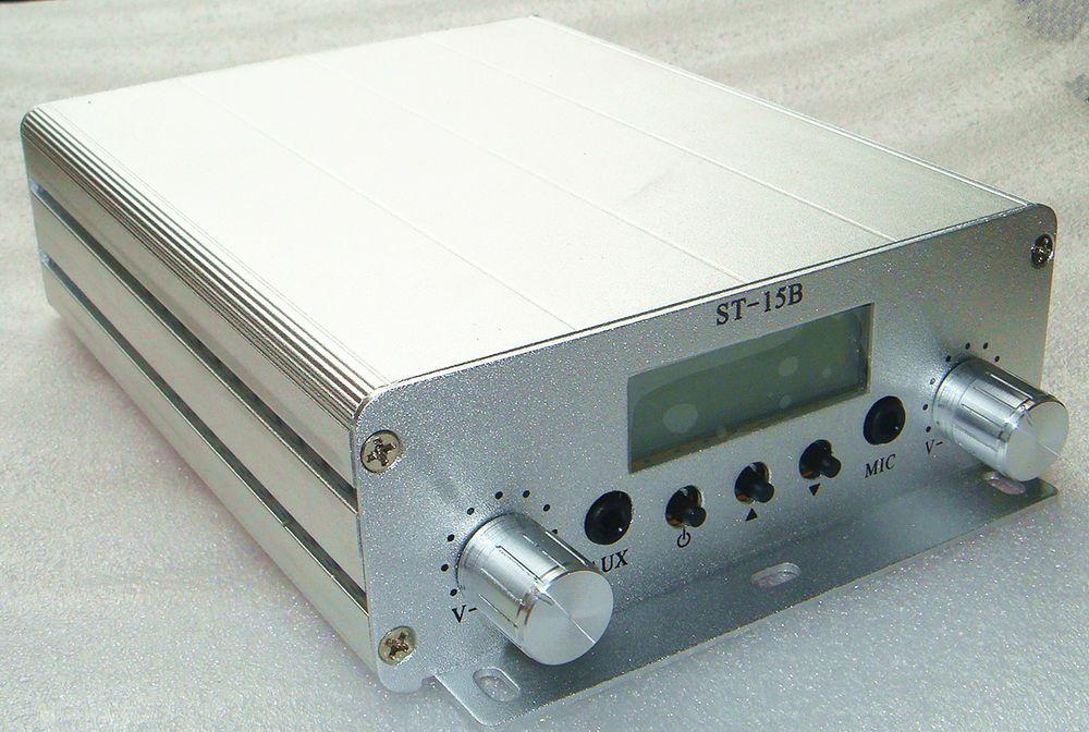 1 5w 15w Stereo Pll Fm Transmitter Broadcast Radio Station St 15b 87 108mhz Fmtransmitter Fm Transmitters Transmitter Radio