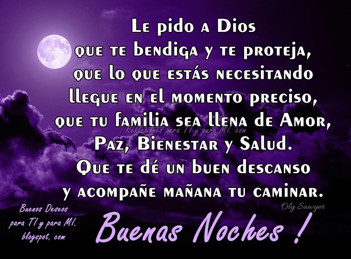 Buenas Noches Amor De Mi Vida Que Dios Me Lo Bendiga Descansa Mi