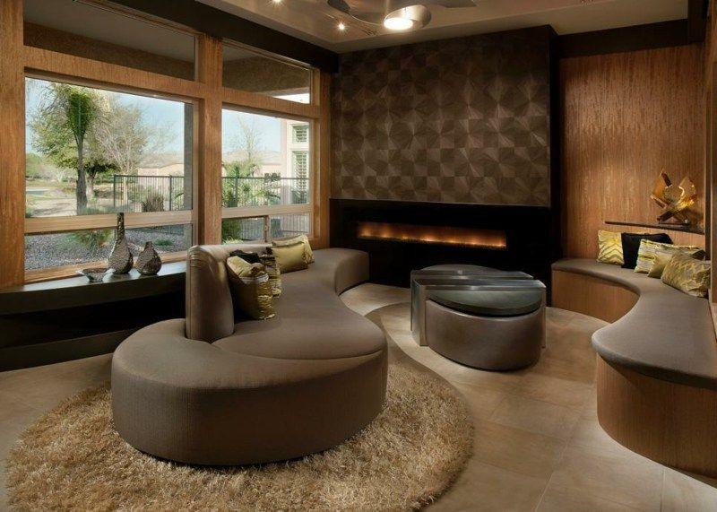 Salon moderno ideas de paredes de color marrón | Pinterest | Colores ...