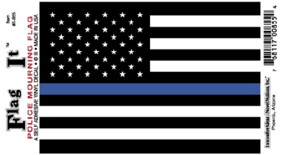 Police Mourning Flag Sticker Flag Police Flag Flag Decal