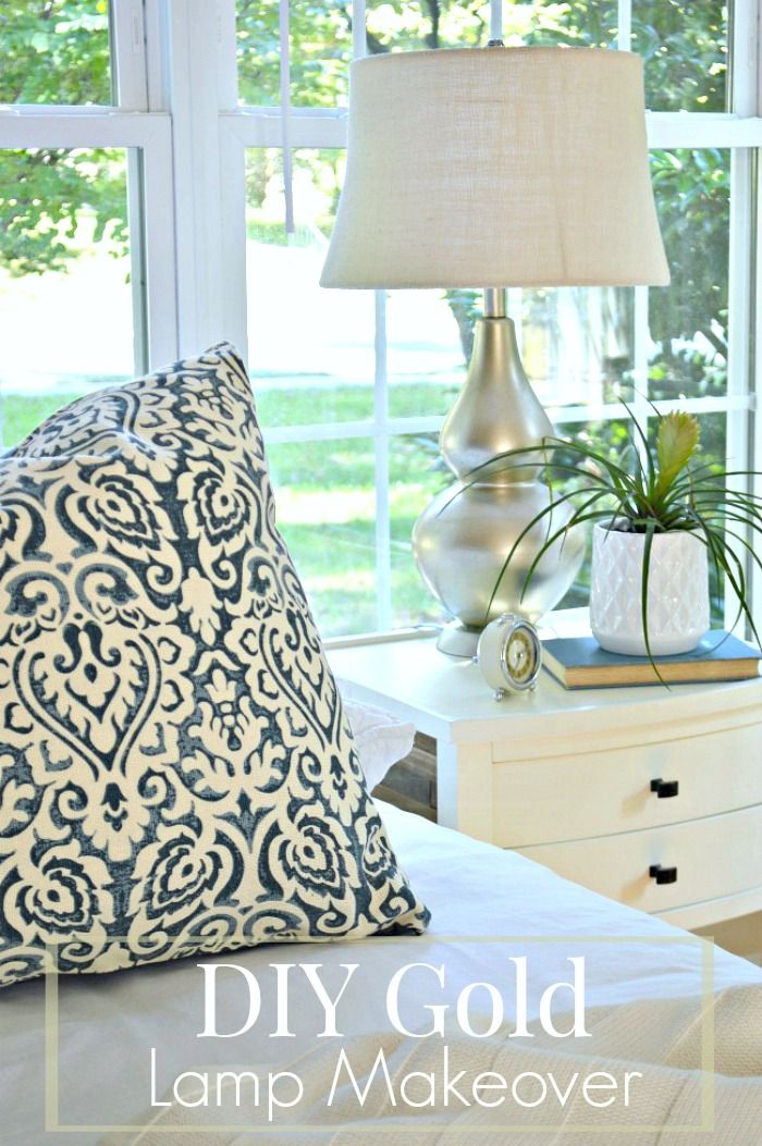 An inexpensive diy ceramic lamp makeover using spray paint to give it a whole new look