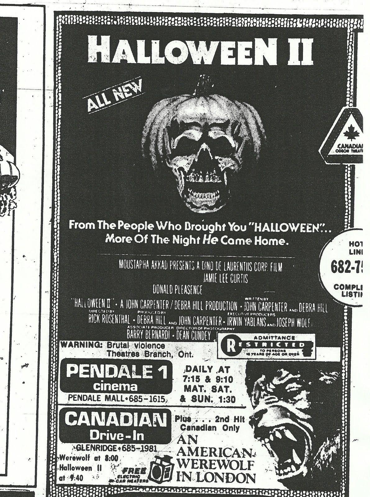 Halloween 2 an american werewolf in london 1981