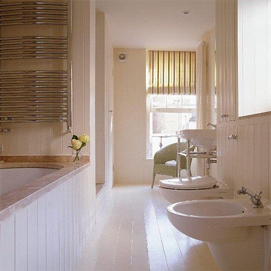 New England-style bathroom Family bathroom, Bathroom vanities - wohnideen small bathroom