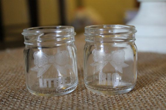 Big And Little Mason Jar Shot Glasses Mason Jar Shot Glasses Mason Jar Shots Mason Jars