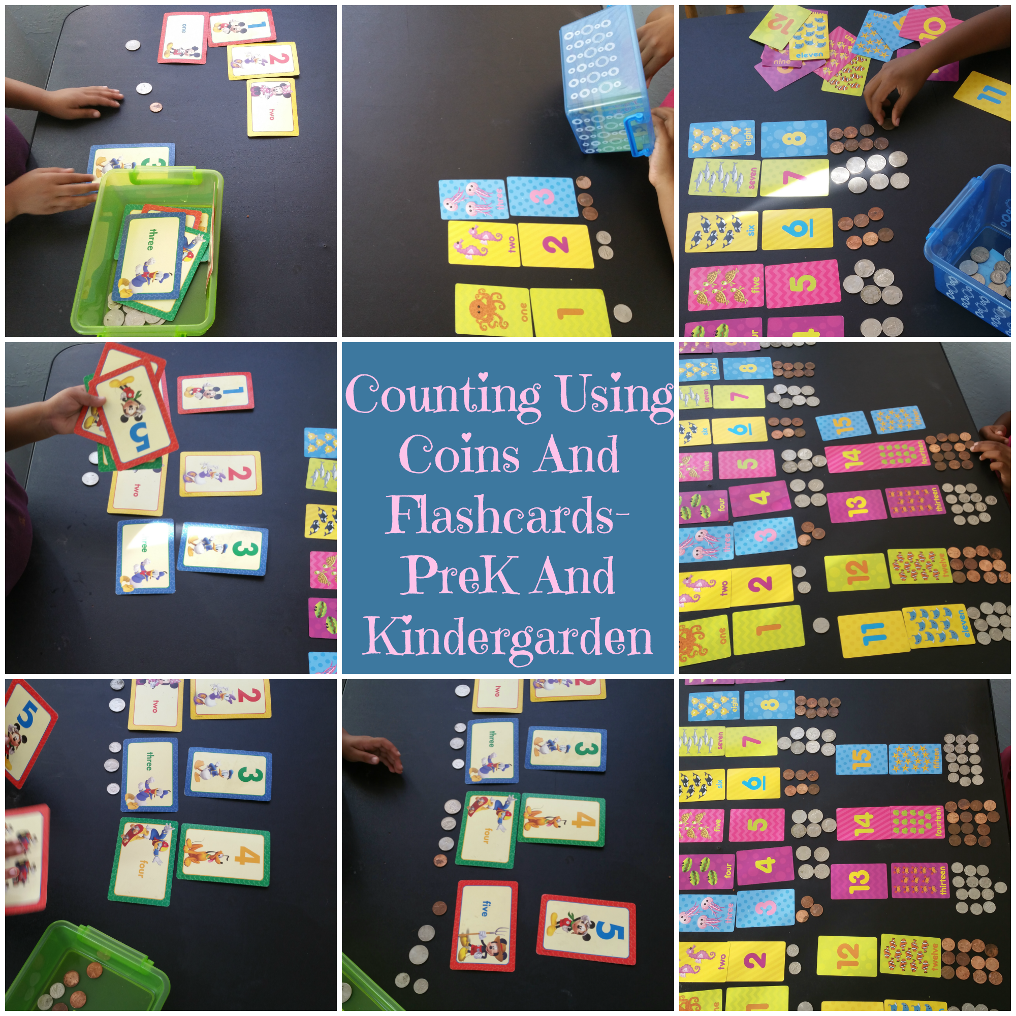 Counting Using Coins And Flashcards-PreK And Kindergarten | Coins ...