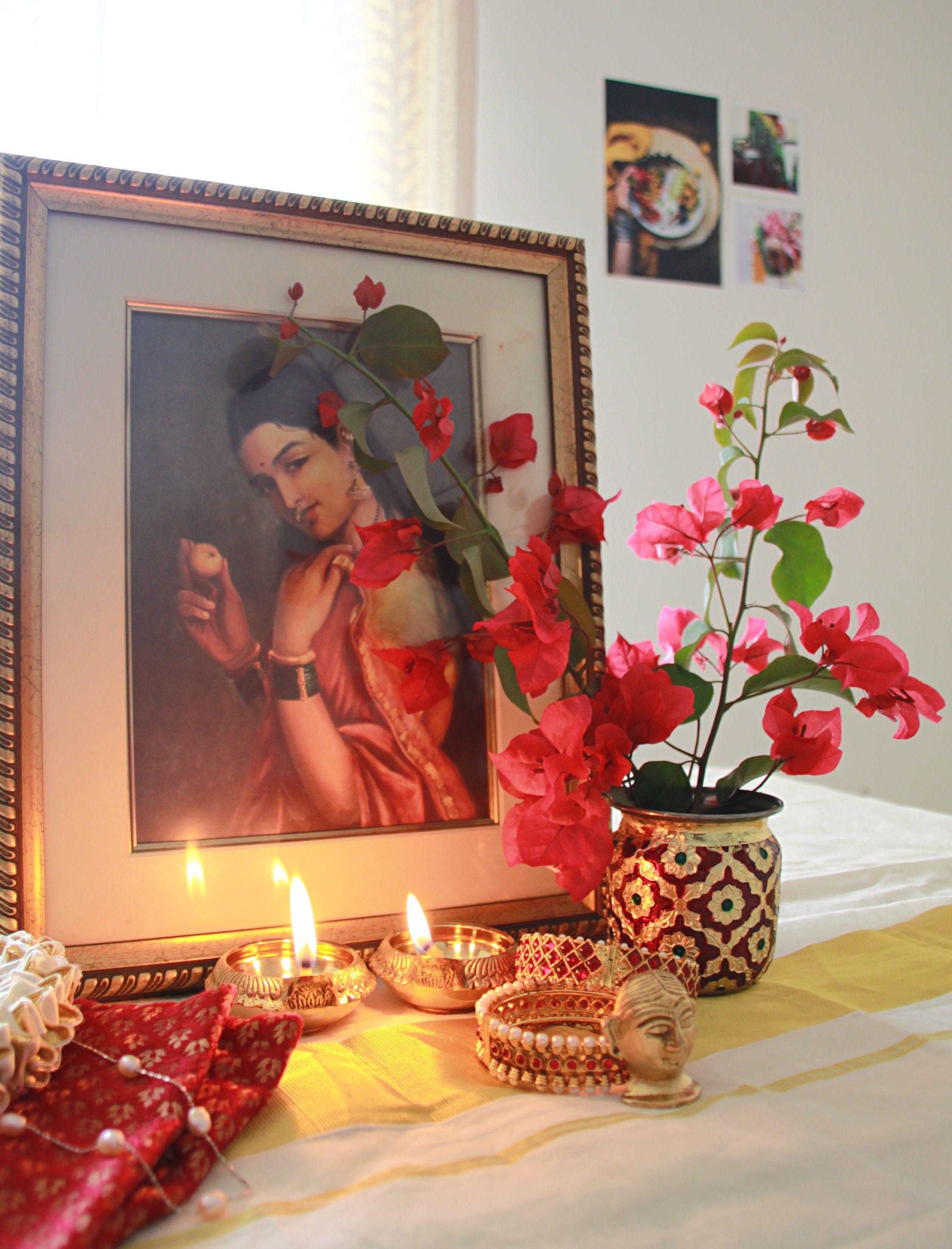 A South Indian Diwali Vignette Center Table Décor Bring
