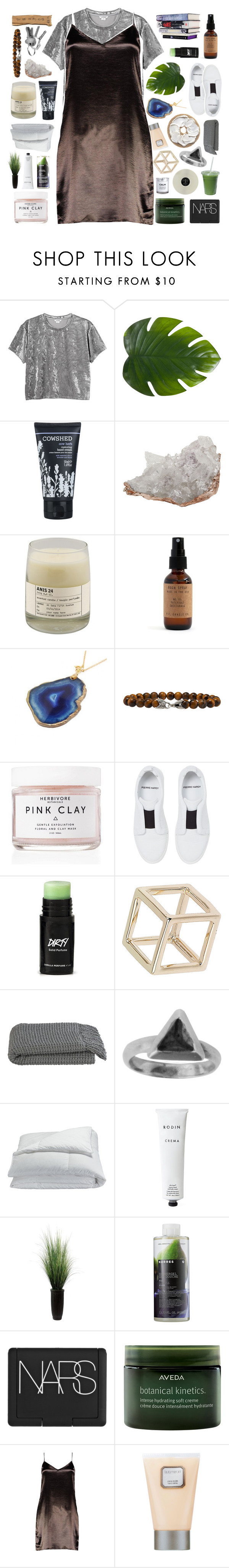 """""""check my nails"""" by deep-breaths ❤ liked on Polyvore featuring Monki, Zara Home, Cowshed, Anna New York, Le Labo, Costa, David Yurman, Herbivore, Pierre Hardy and Topshop"""