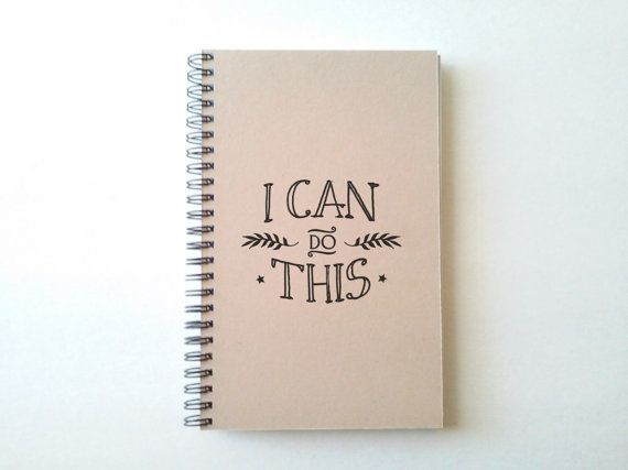I can do this 5X8 Journal spiral notebook by TheJournalCompany