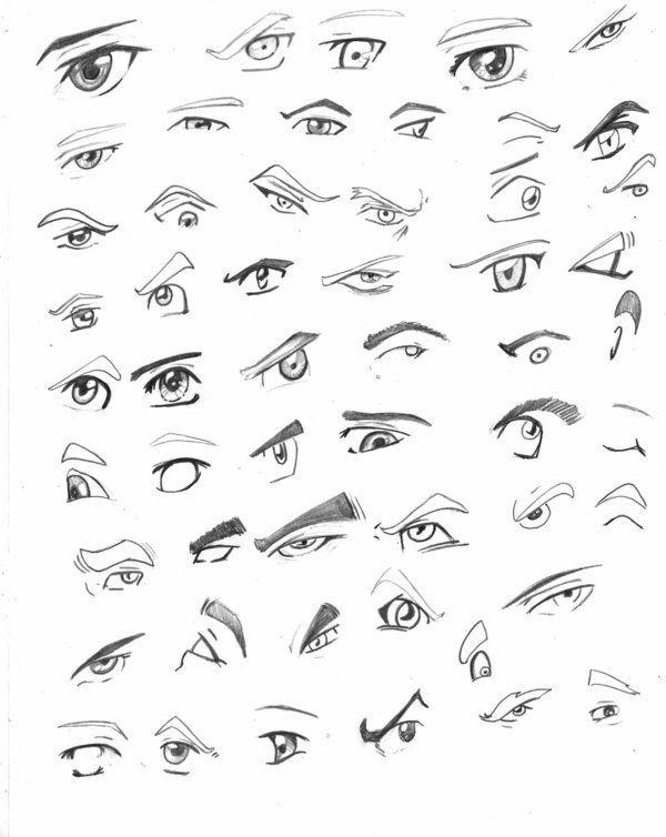 Resultado De Imagen Para Dibujo De Caras Manga 3d Ojos De Hombre Dibujos De Ojos Dibujar Ojos De Anime