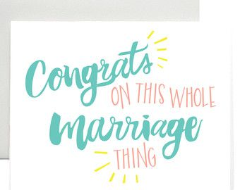 Funny Wedding Congratulations Card Printable Congrats Card