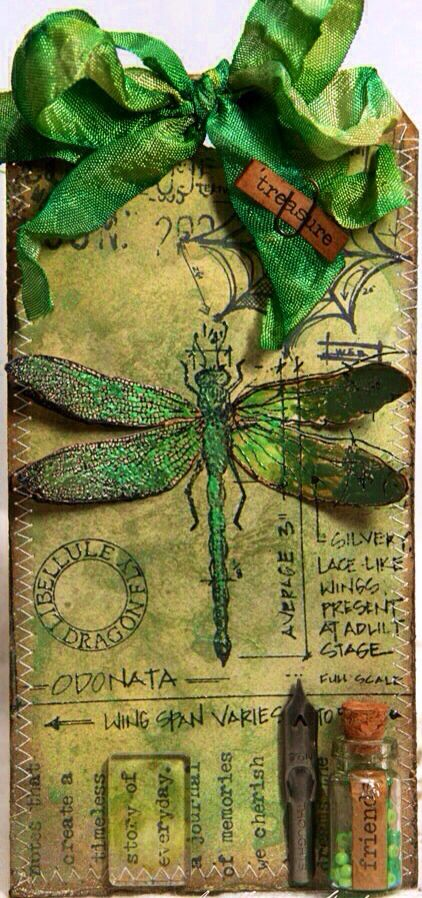 ♈ Dragonfly Versailles ♈ dragonfly tag by Anne Kristine