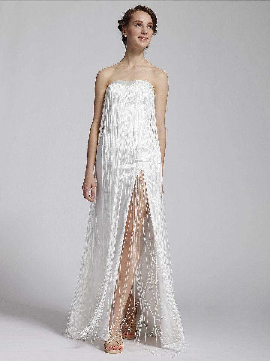 After wedding dress reception   Strapless Waterfall Little White Dress reception dresses