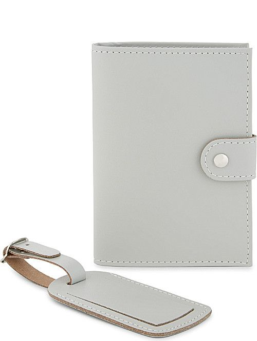 d1f9584e66c4 UNDERCOVER Recycled leather passport holder and luggage tag | Porta ...