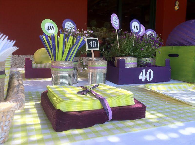 Resultado de imagen para decoracion de fiesta de 40