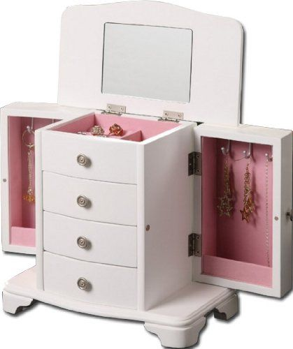 Girls White Jewelry Box Pink Interior Seya httpwwwamazoncomdp